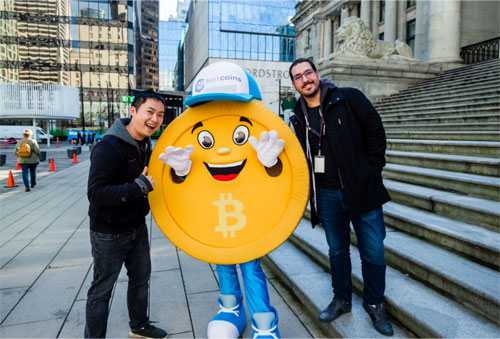 bitcoin mascot costume