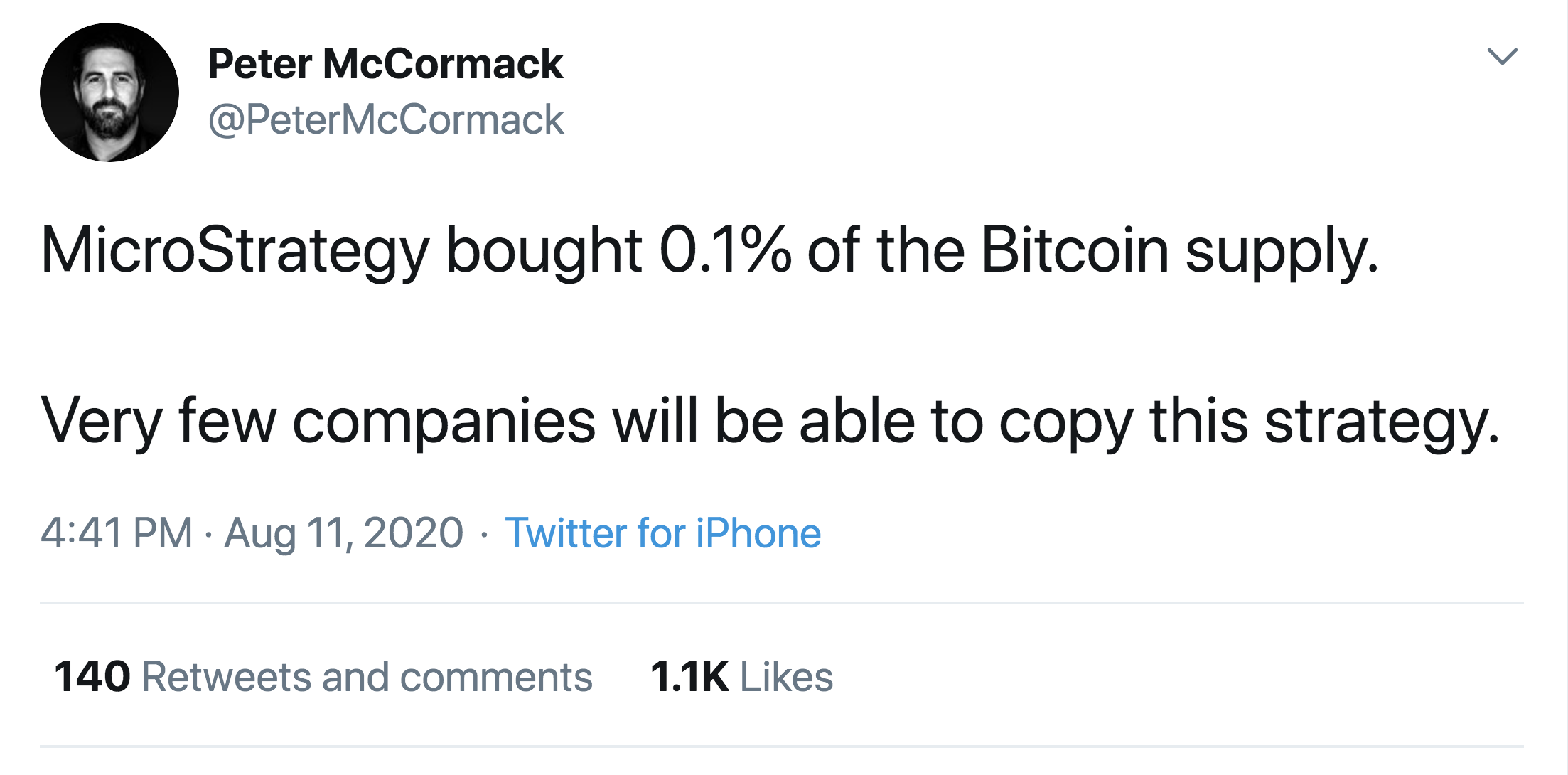 Microstrategy Bitcoin Peter McCormack Twitter