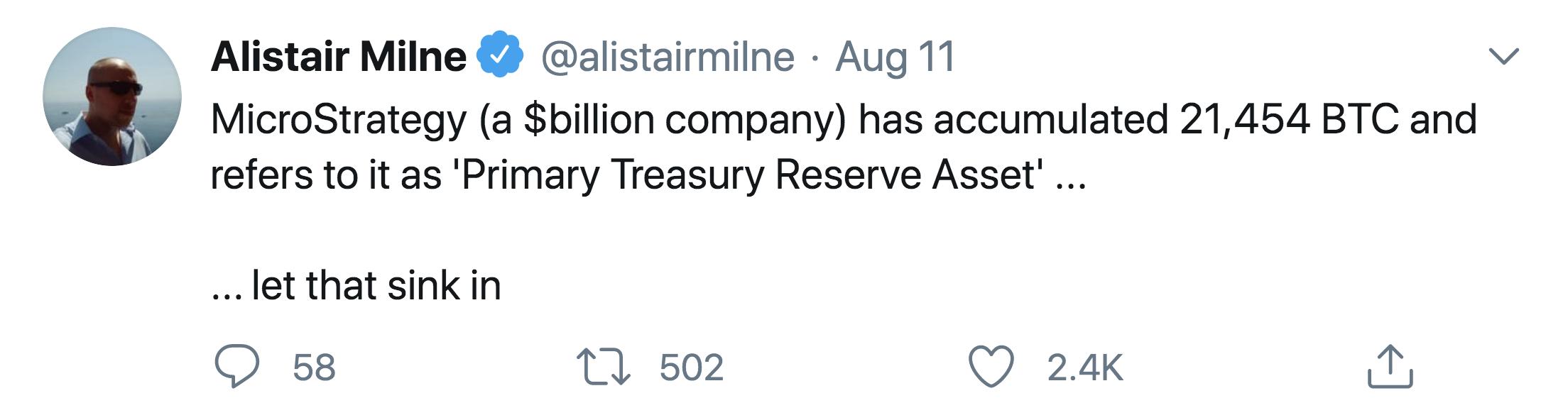 Alistair Milne Microstrategy Bitcoin